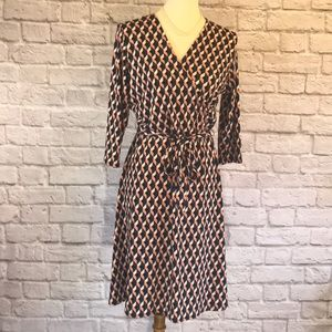 Leota mock wrap dress, Blue/pink size 1L